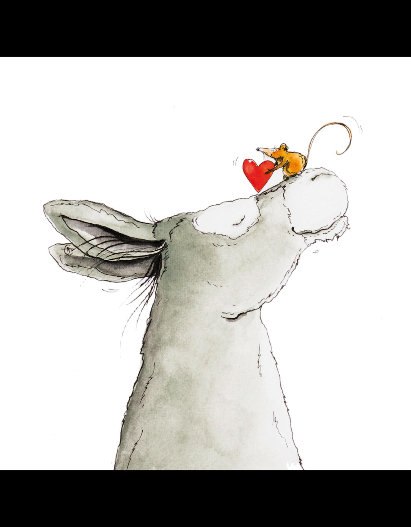 ZintenZ postcard Donkey and Mouse Love