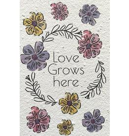 Barbosa Fair Trade wenskaart Love grows here