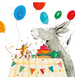 ZintenZ postcard Donkey and Mouse Party