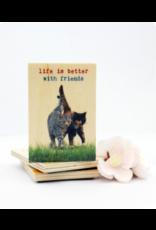 ZintenZ houten magneet Life is better with friends