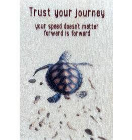 ZintenZ wooden magnet Trust your journey