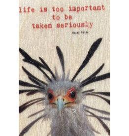 ZintenZ houten magneet Life is too important