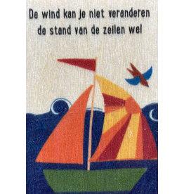 ZintenZ houten magneet De wind