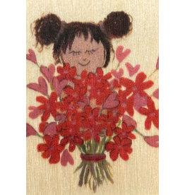 ZintenZ wooden magnet Flower girl