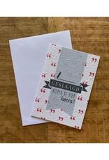 Barbosa Fair Trade postcard Geslaagd