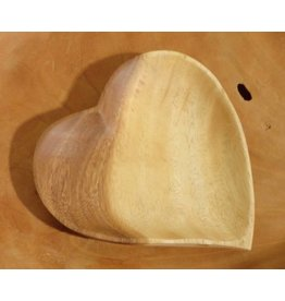 Kinta plate heart medium acacia wood