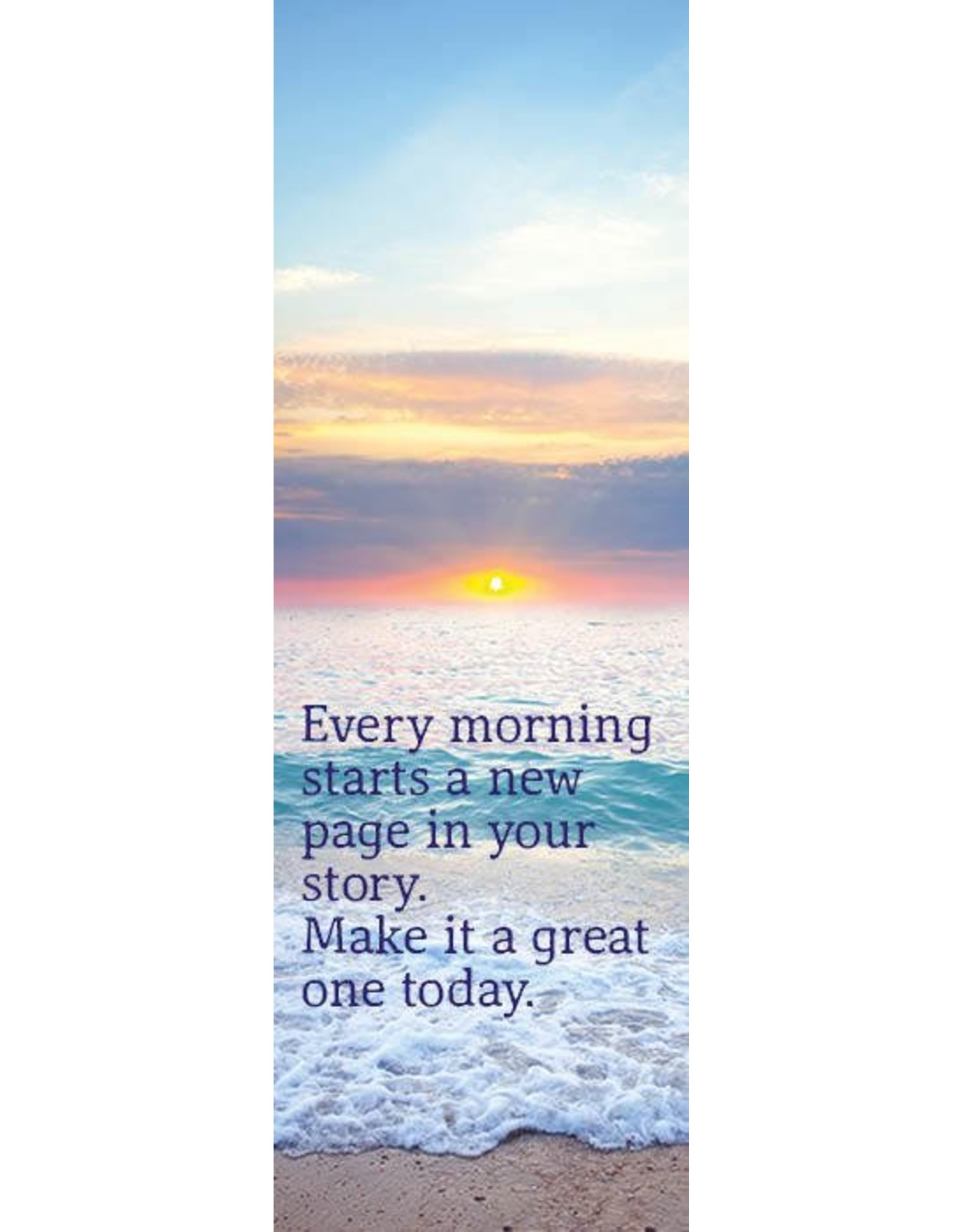 ZintenZ bookmark Every morning starts a new page