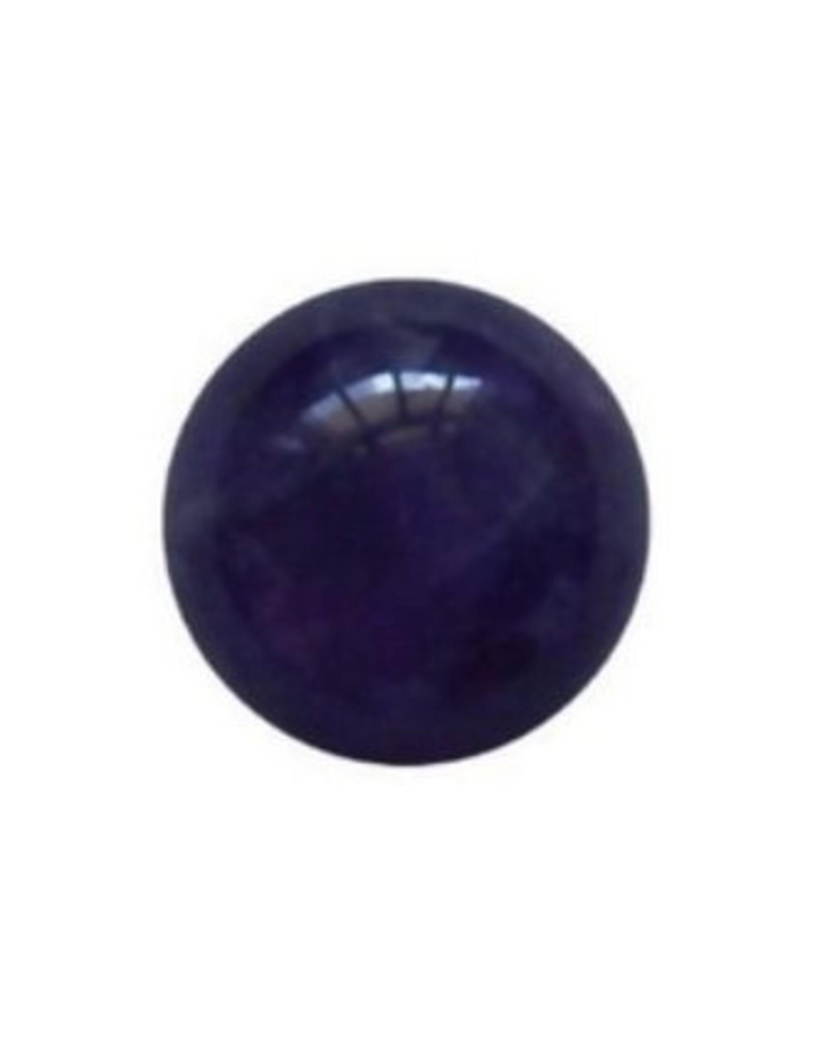 Interchangeable gemstone Amethyst purple 10 mm