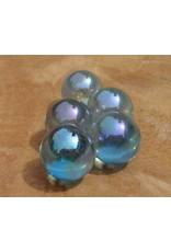 Interchangeable gemstone Aqua Aura 10 mm