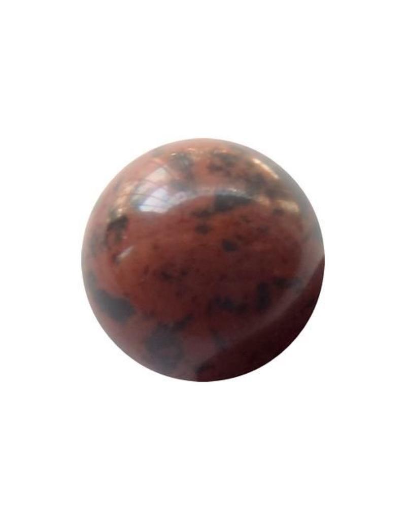 Interchangeable gemstone Obsidian 12 mm