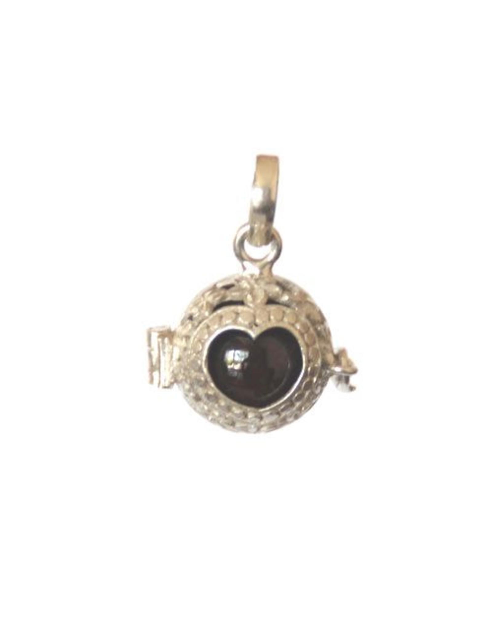 Gemstone holder pendant heart round 10 mm