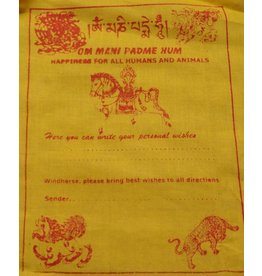 Dakini Tibetaanse gebedsvlaggen Wens