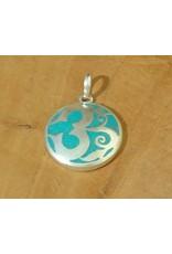 Dakini Tibetan pendant Ohm turquoise