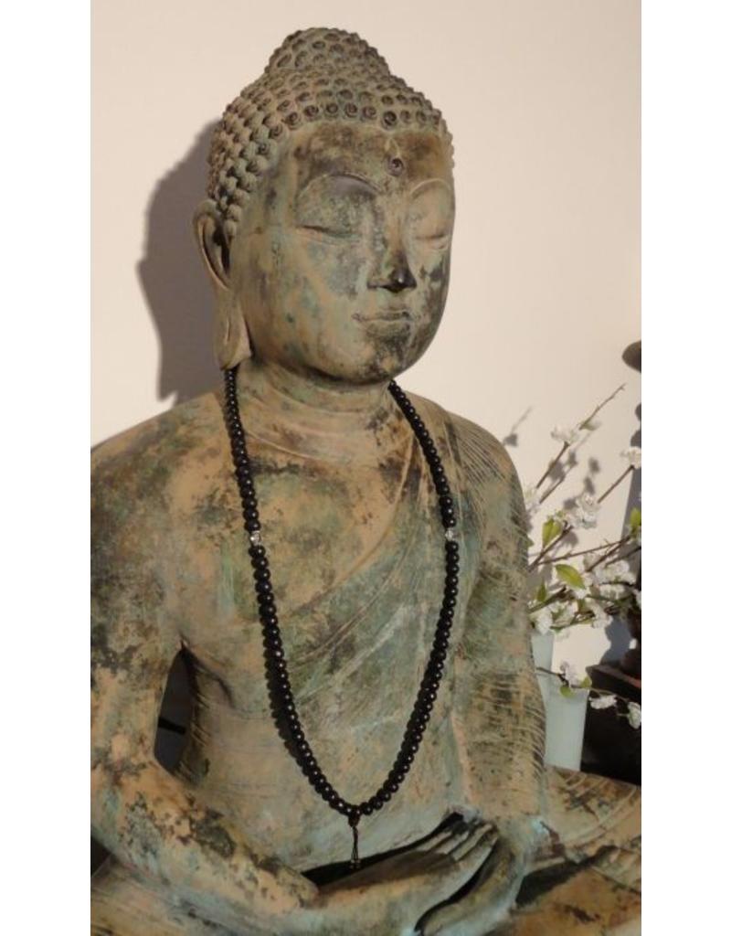 Dakini Mala with dark rosewood and glass beads