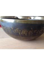 Dakini singing bowl with the Hum symbol inside