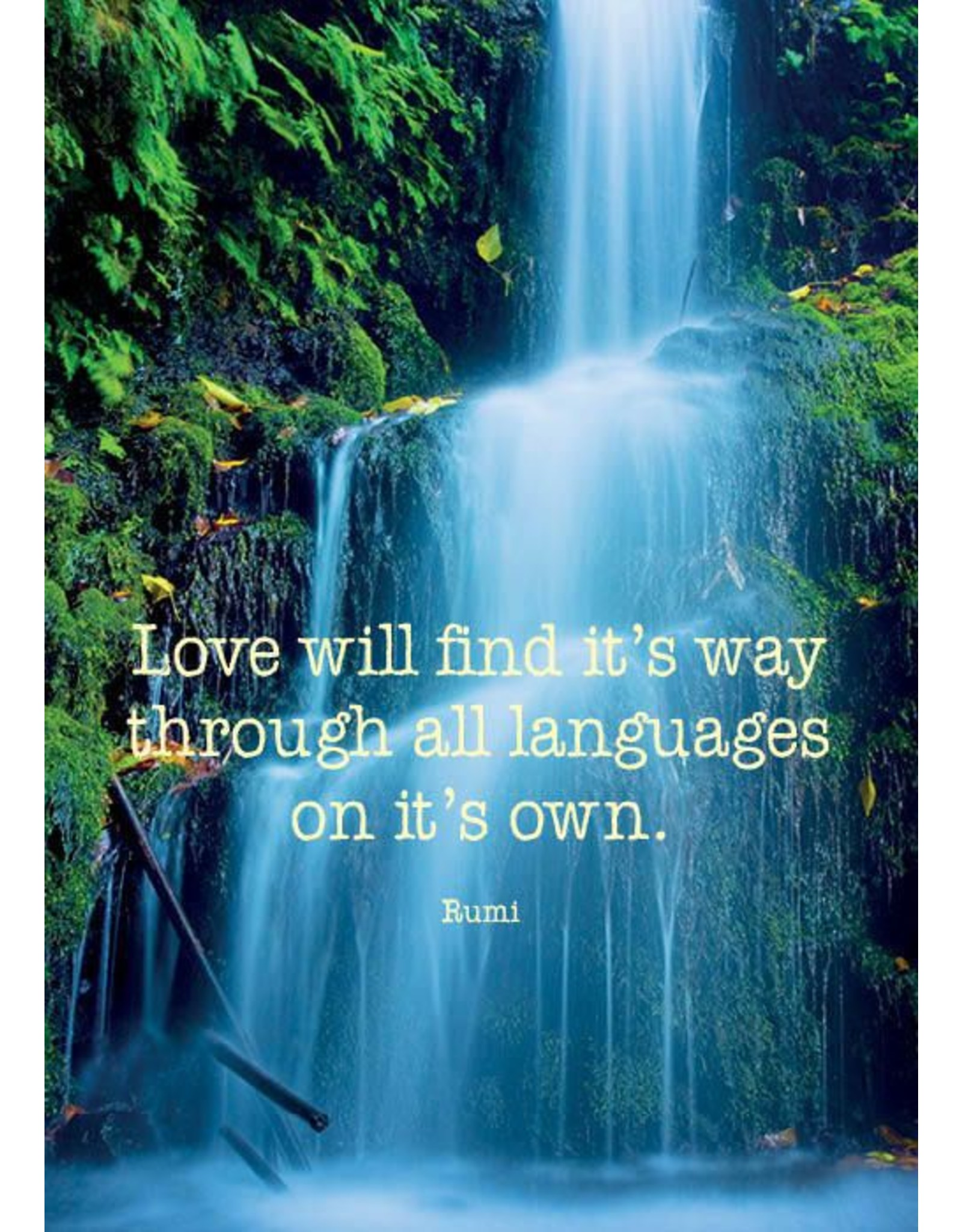 ZintenZ postkaart Love will find it's way