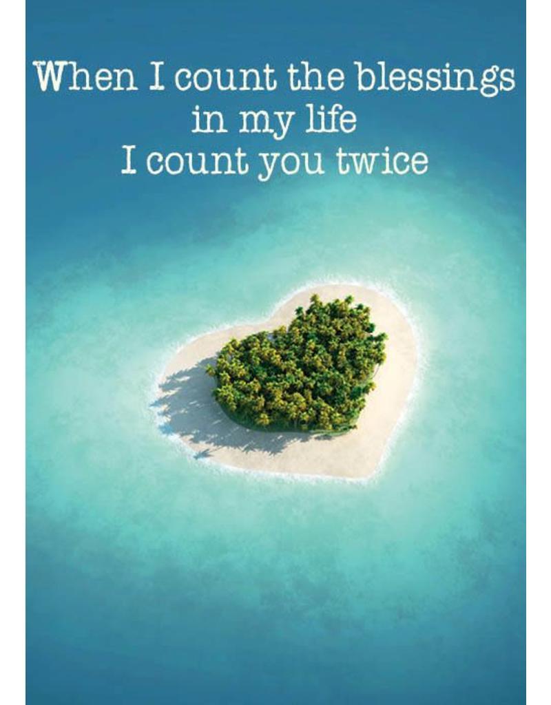ZintenZ postkaart When I count the blessings