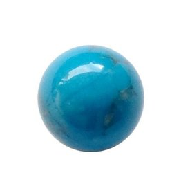 Interchangeable gemstone Howlite blue 12 mm