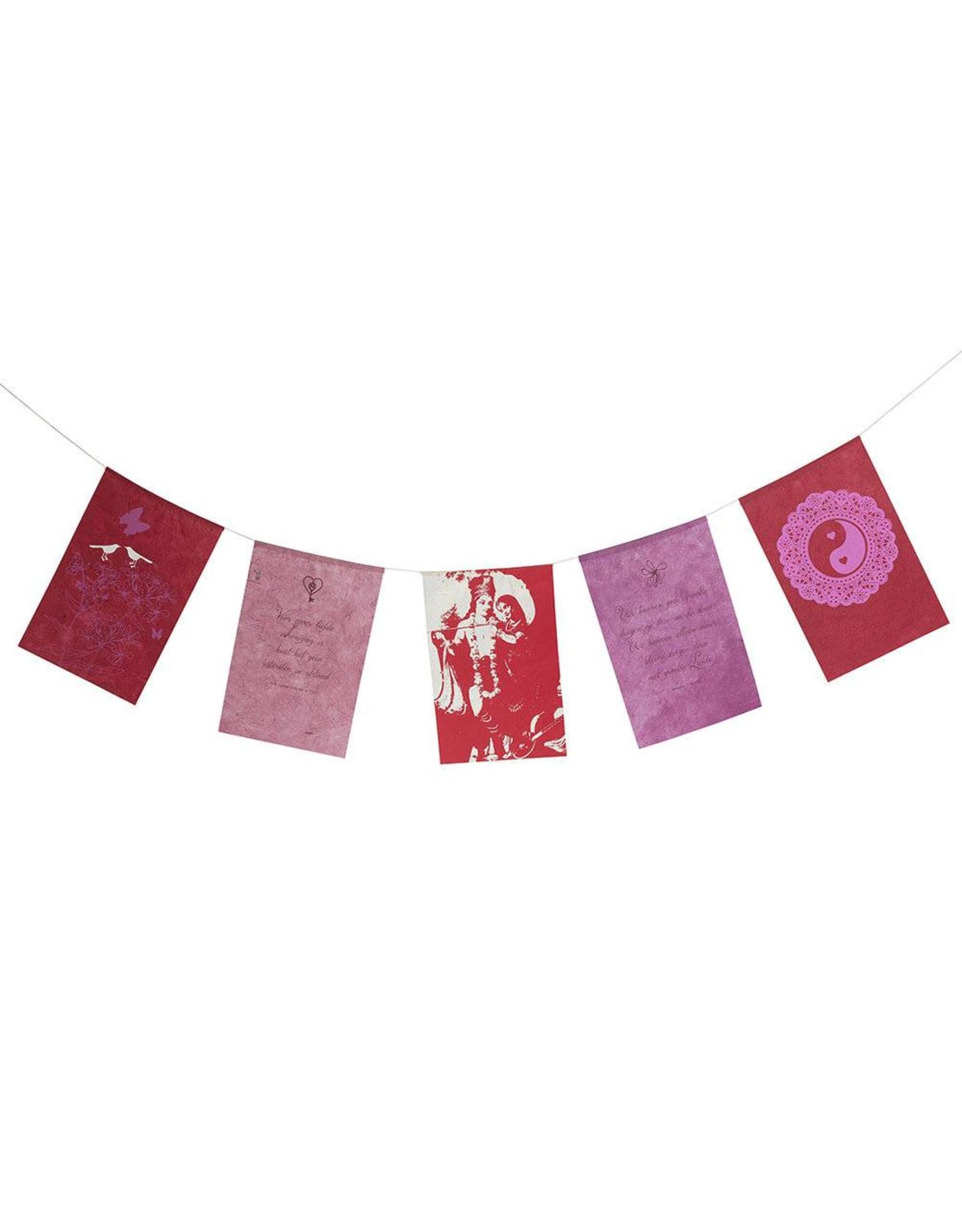 Wenskaart vlaggetjes Liefde