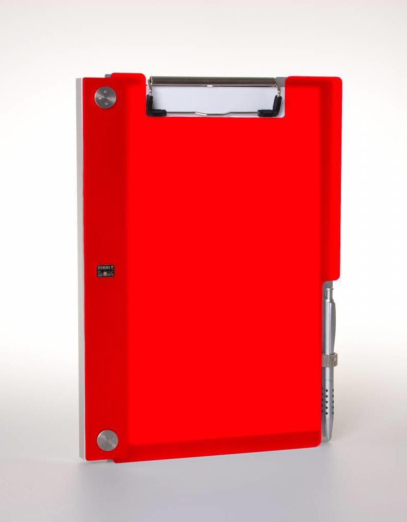 Klemmap ALBANO Frost Chili-Red met penhouder.