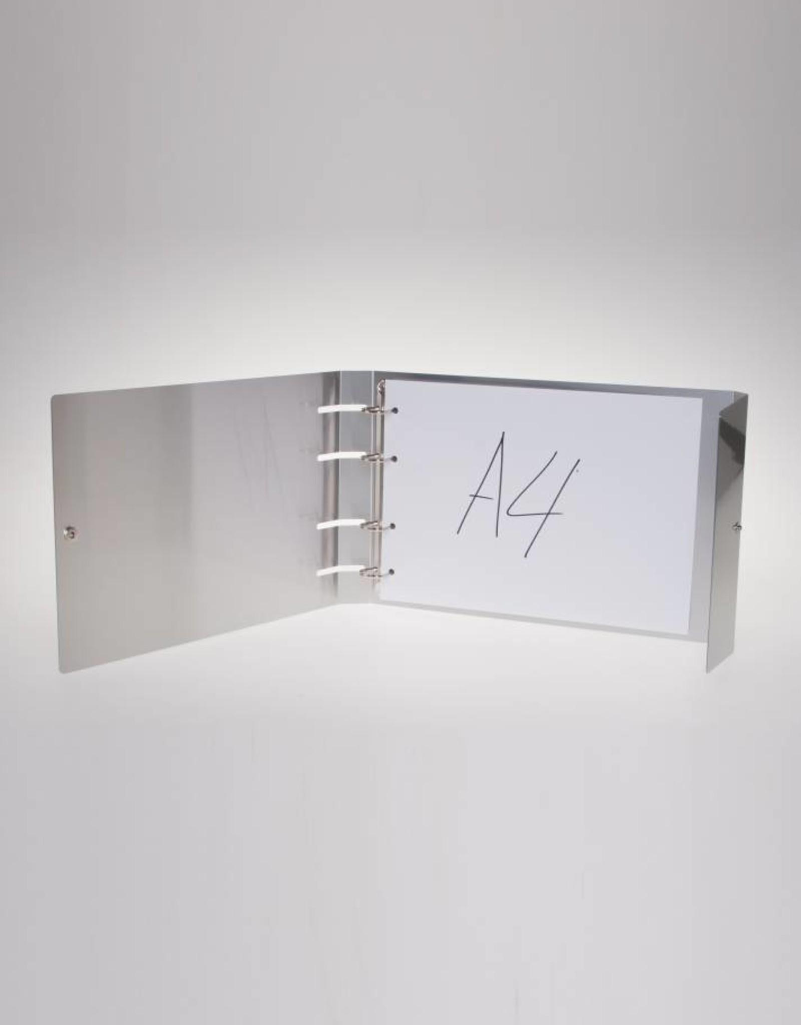 RibbleBox Ringband ALU met zichtbare ringen en drukknoop liggend A4