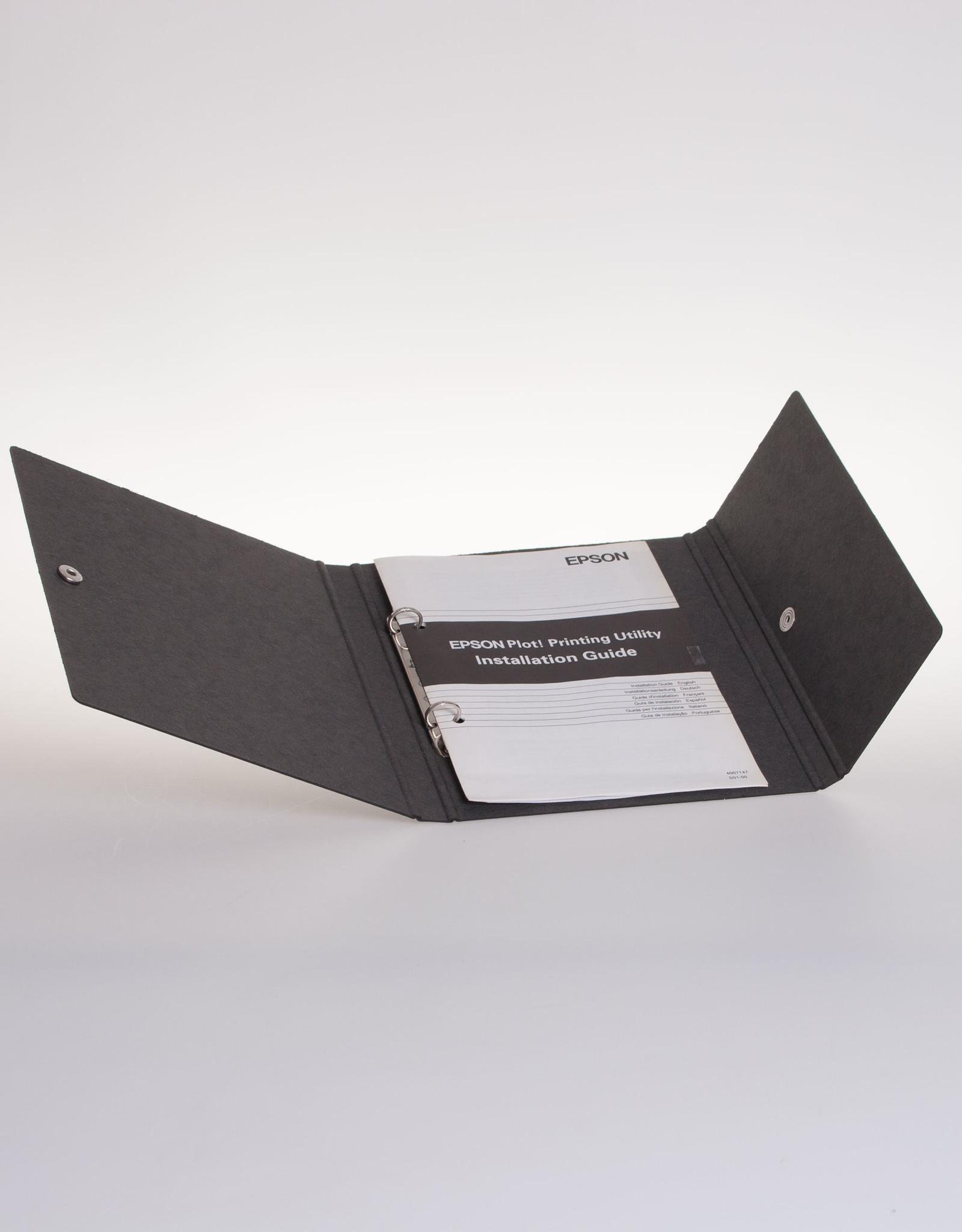 Ringband A5 met drukknoop, recycleboard zwart
