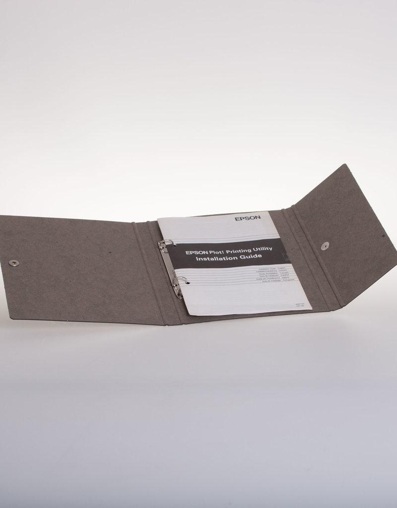 Ringband A5 met drukknoop, recycleboard grijs