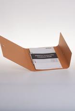 Ringband A5 met drukknoop, recycleboard bruin