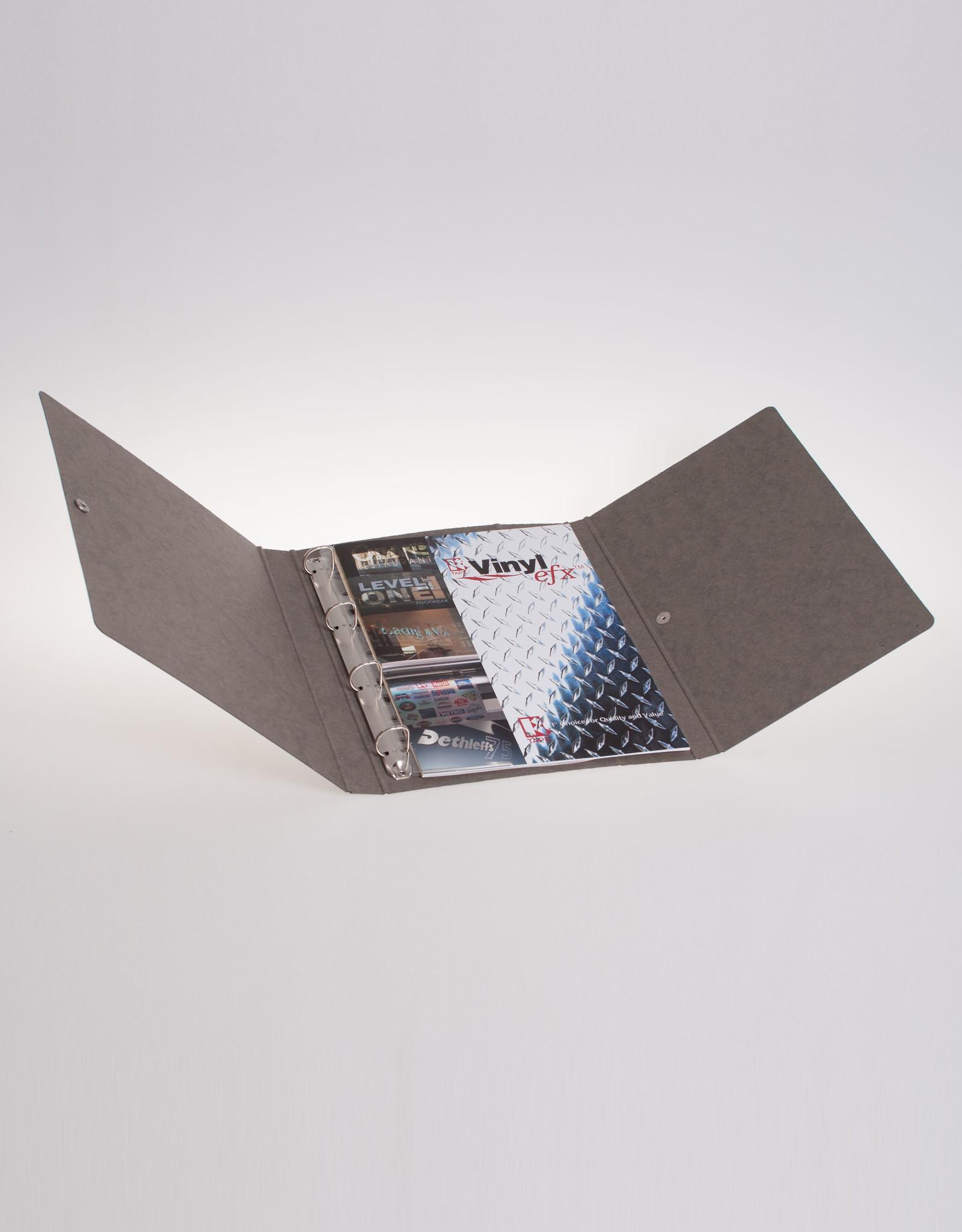 Ringband A4 met drukknoop, recycleboard grijs