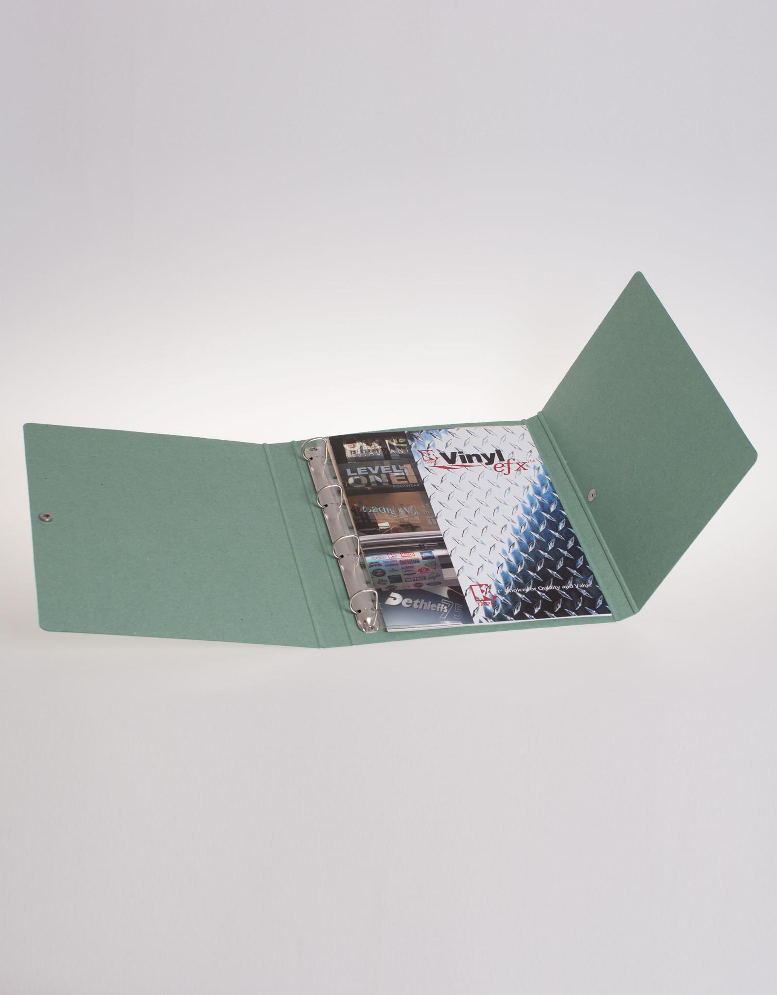 Ringband A4 met drukknoop, recycleboard groen