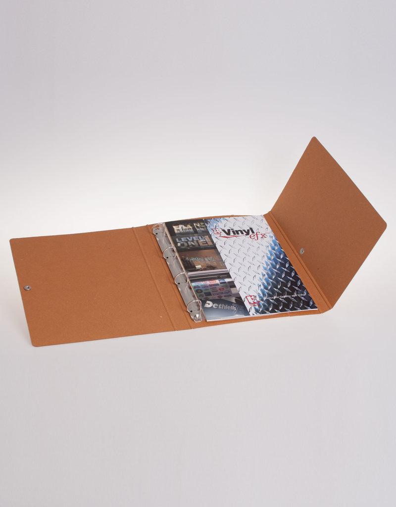 Ringband A4 met drukknoop, recycleboard bruin