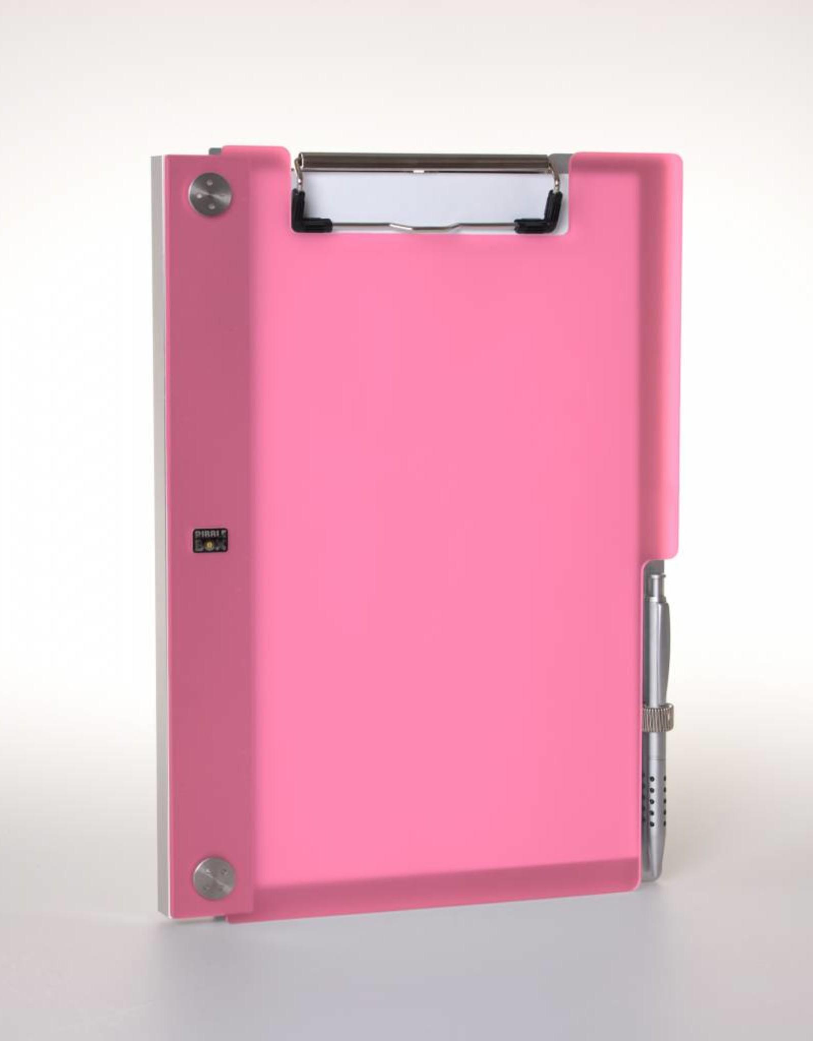Klemmap ALBANO Frost-Pink met penhouder.