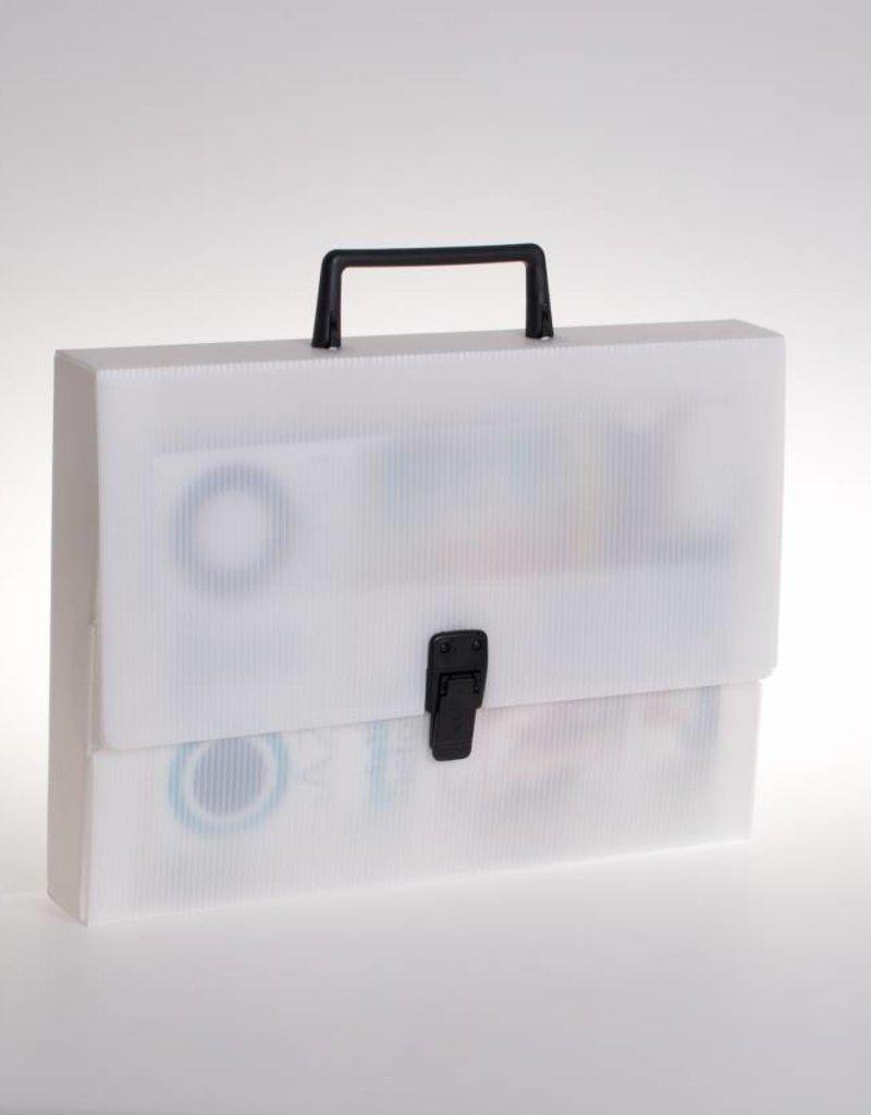 Koffer met slot en greep (transparant)