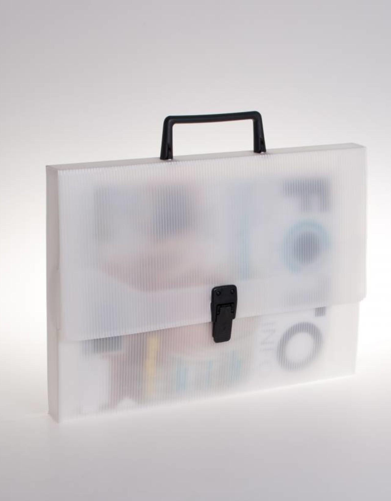 Koffer met greep en slot (transparant)