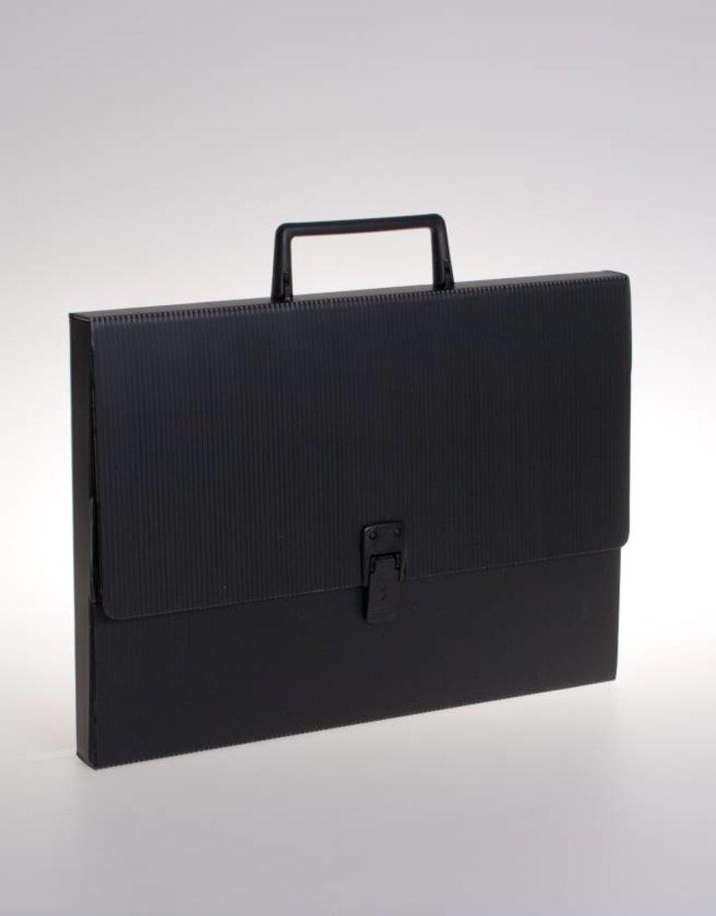 Koffer mer slot en greep (zwart)
