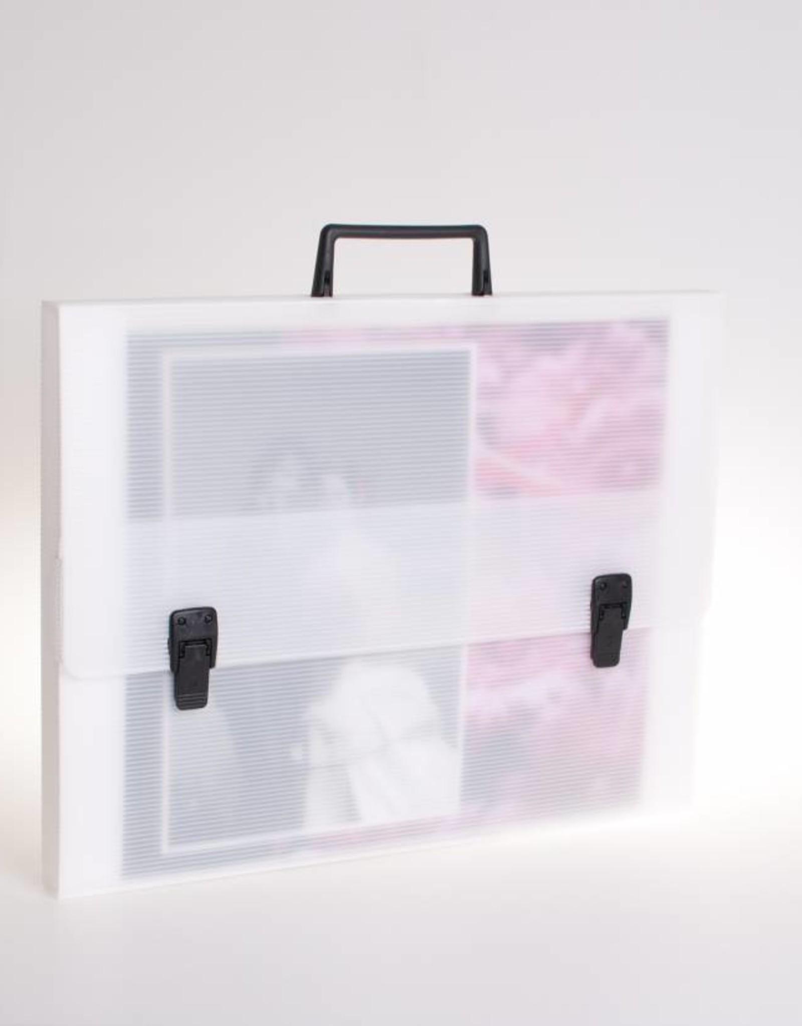 Koffer met 2 sloten en greep (transparant)