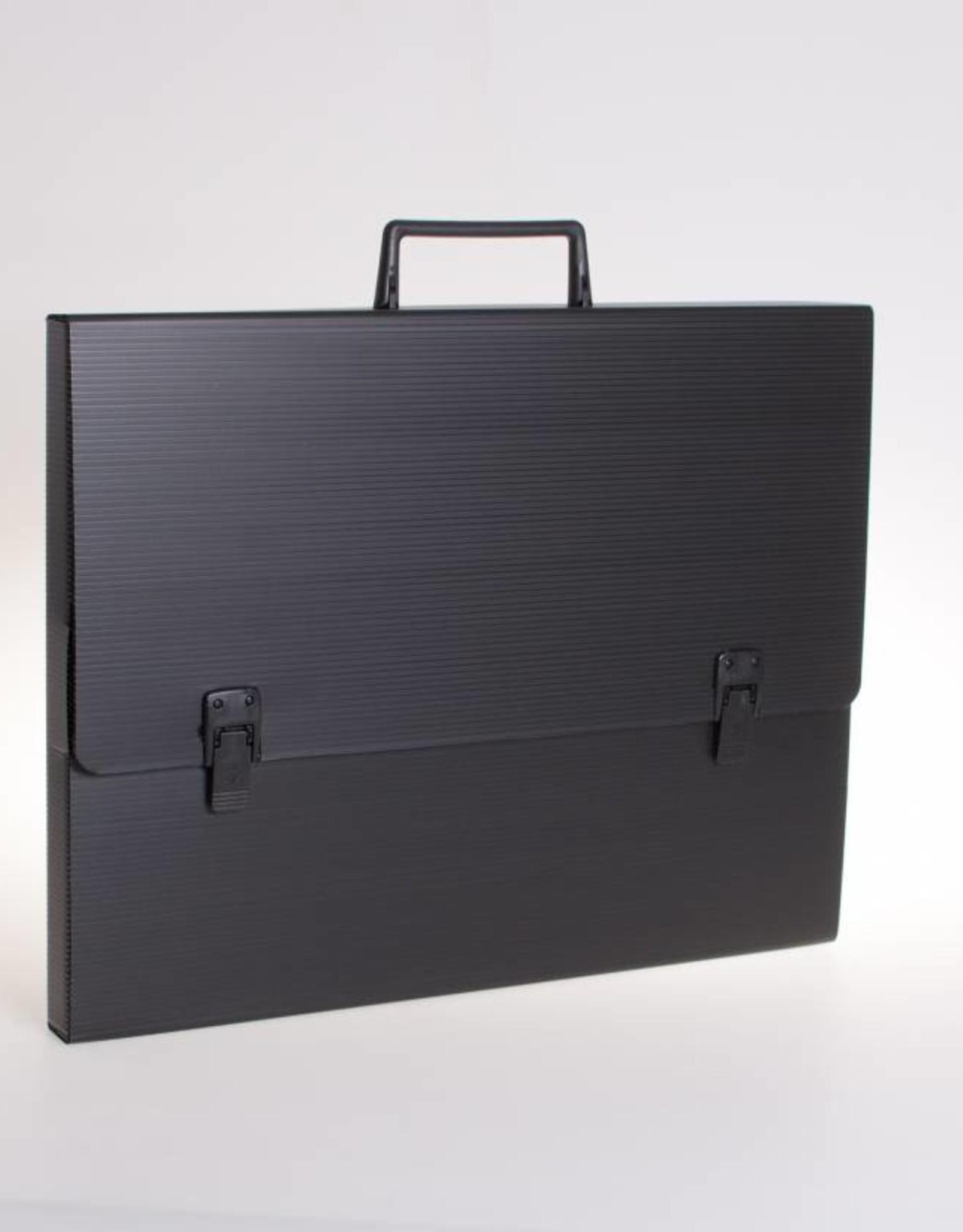 Koffer met 2 sloten en greep (zwart)