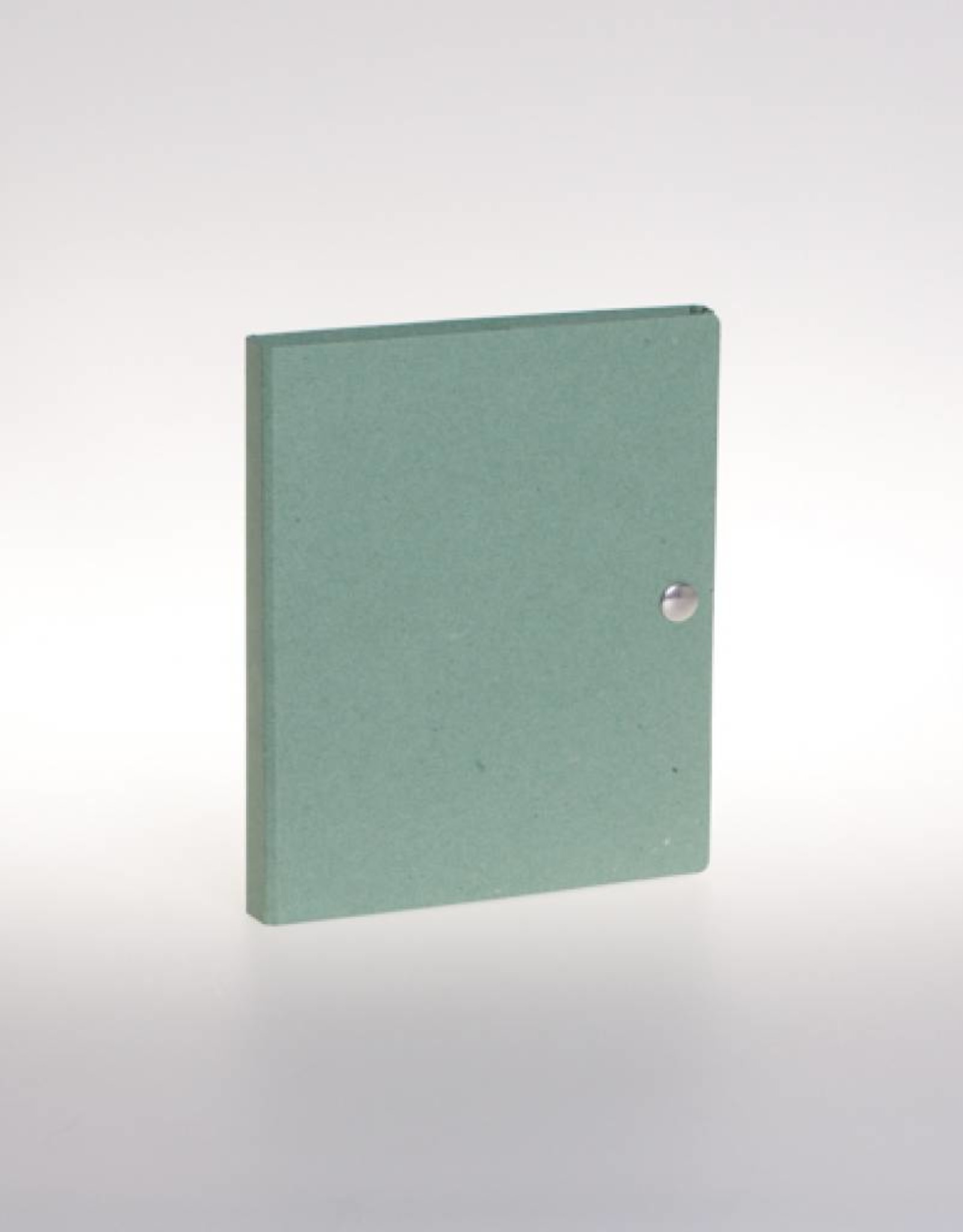 Ringband A5 met drukknoop, recycleboard groen