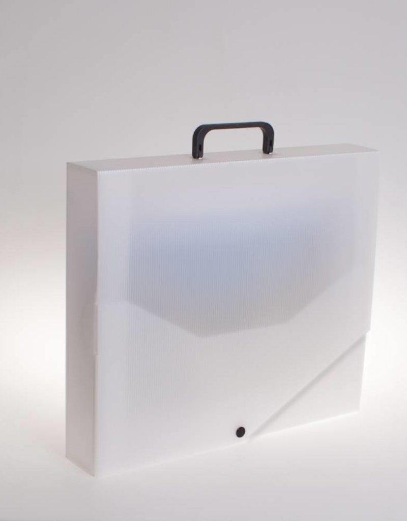 RibbleBox Koffer met drukknoop (transparant)