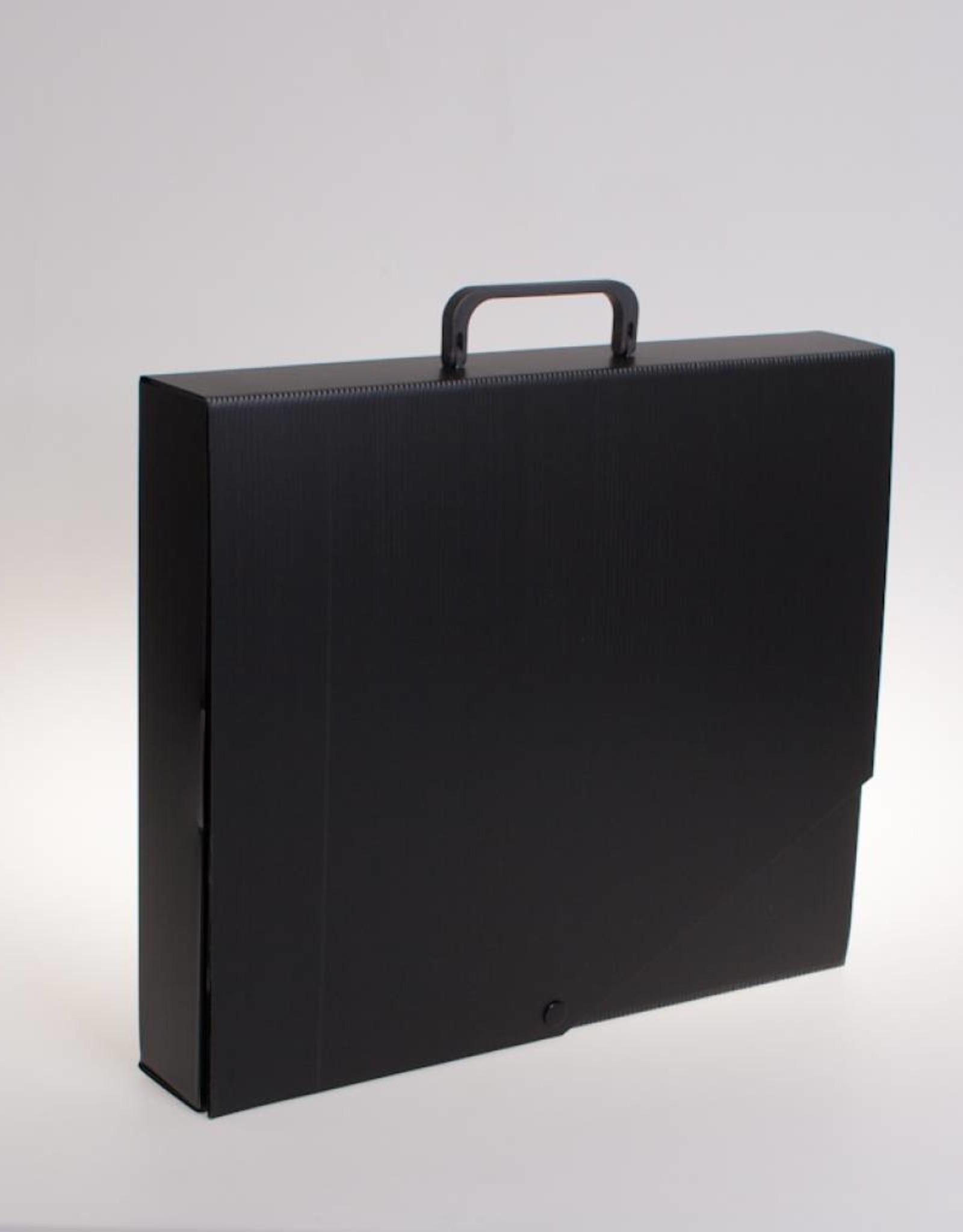 RibbleBox Koffer met drukknoop (zwart)