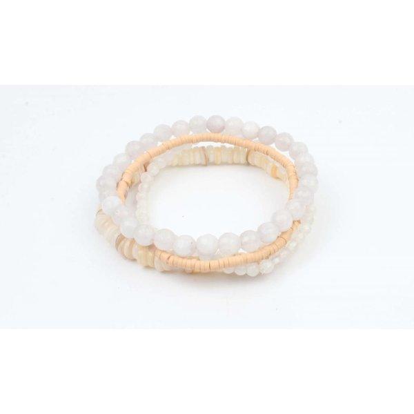 """Armband """"Multi natuurstenen"""" nude (327855)"""