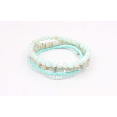 """Armband """"Multi natuurstenen"""" mint (327855)"""