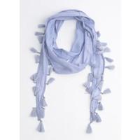 Skinny scarf with glitter beads, purple