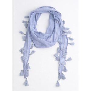 Skinny Schal mit Glitzer Perlen, lila