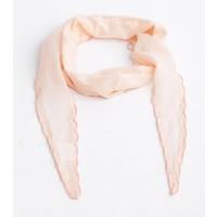 Skinny sjaal met rondom kralen, blush