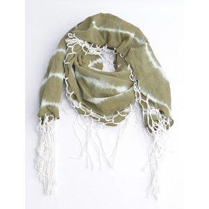 Runder Schal mit um Irrlichter, khaki