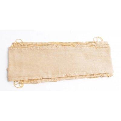 Skinny sjaal met rondom kralen, beige (710075)