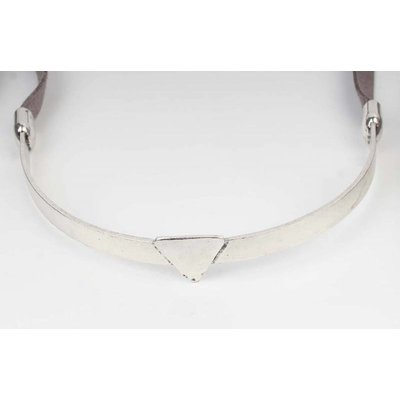 Wrap choker Triangle grijs (318062)