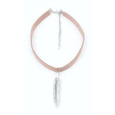 Choker with long spring old silver nude (318091)