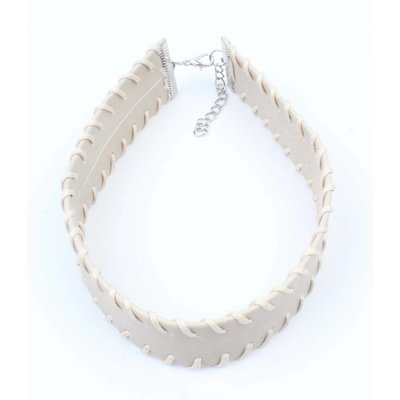 Choker with stitching grey (318098)